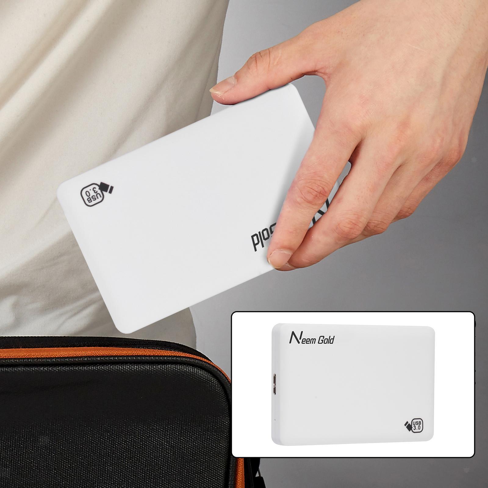 miniature 24 - ABS External Portable USB 3.0 Hard Drive Disk HDD for Desktop Laptop New
