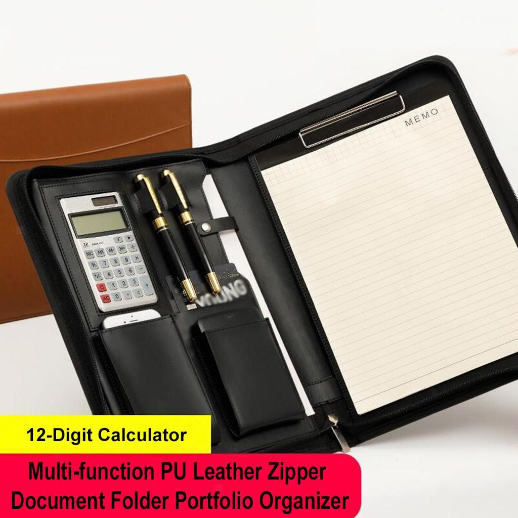 zipper resume document manager portfolio organizer pen