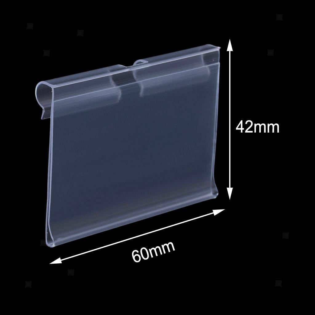 Porte-etiquette-En-Plastique-Transparent-Porte-etiquette-De-Prix-De-Detail miniature 15