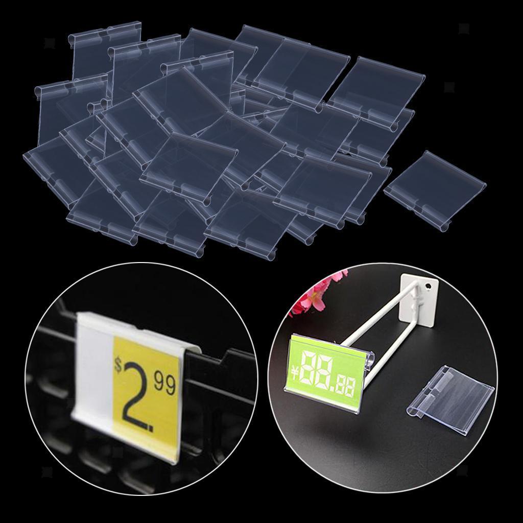 Porte-etiquette-En-Plastique-Transparent-Porte-etiquette-De-Prix-De-Detail miniature 16