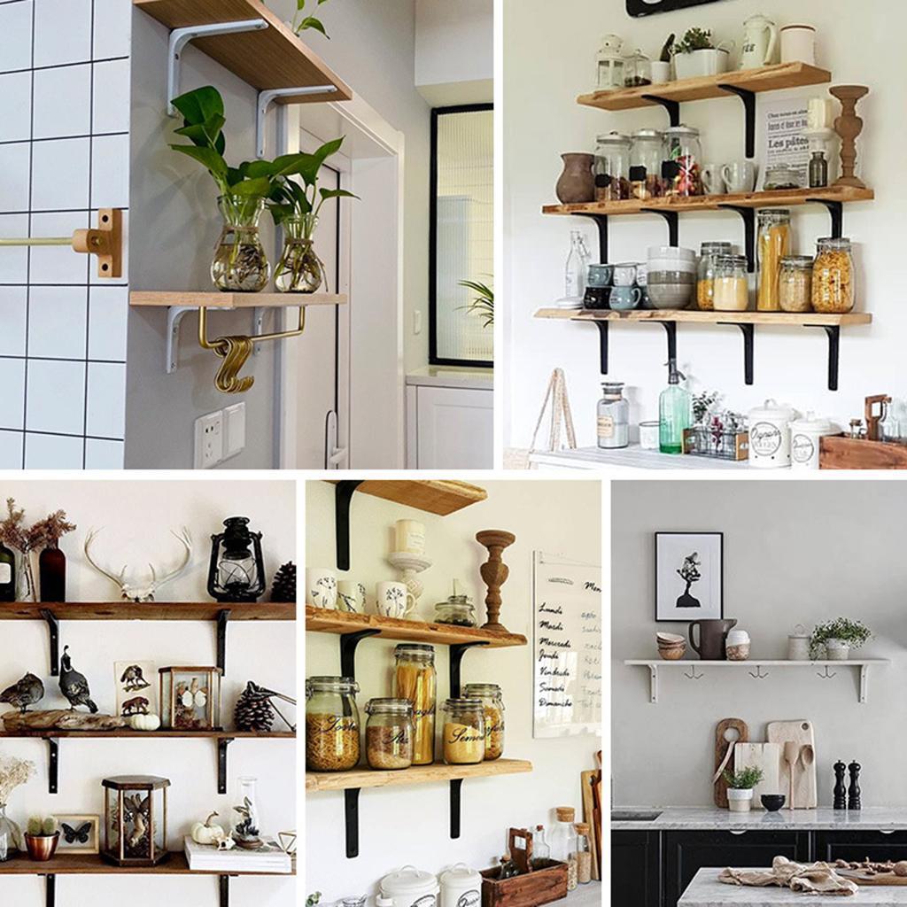 thumbnail 25 - Shelf   Floating Shelves Tripod Triangle Shelf Brackets for Bathroom