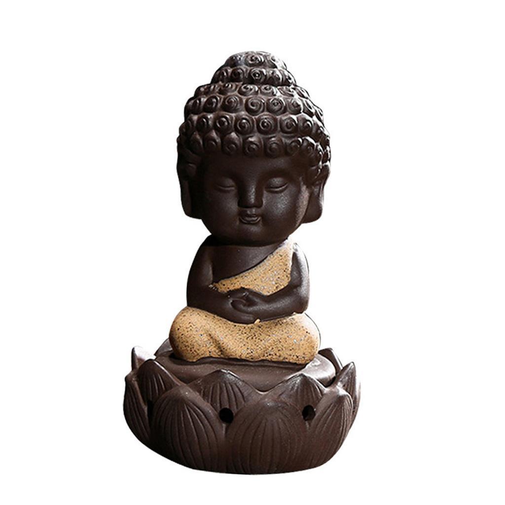 Buddhismus-Moenche-Raeuchergefaess-Keramik-Stick-Kegel-Halter-Rueckfluss Indexbild 4