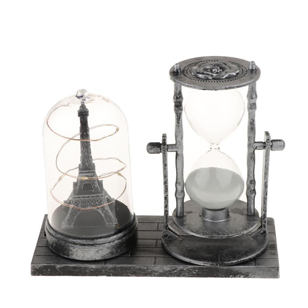 thumbnail 6 - Hourglass Sand Timer with Built-in Light for Bedroom Wine Cabinet Decor