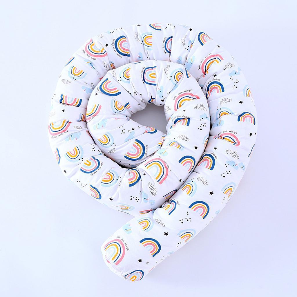 Recinzione-per-culla-intrecciata-morbida-per-neonati-Cuscino-per-biancheria-da miniatura 7