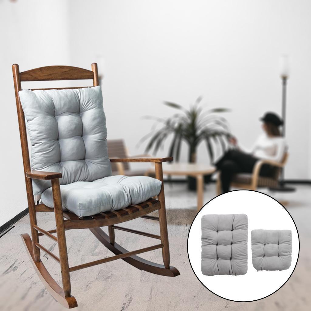miniature 29 - Ensemble de coussins de chaise berçante inclinable avec attaches Jardin