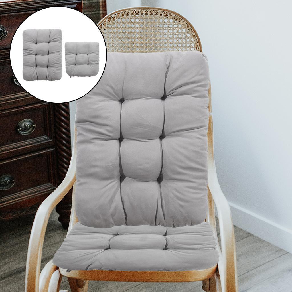 miniature 28 - Ensemble de coussins de chaise berçante inclinable avec attaches Jardin