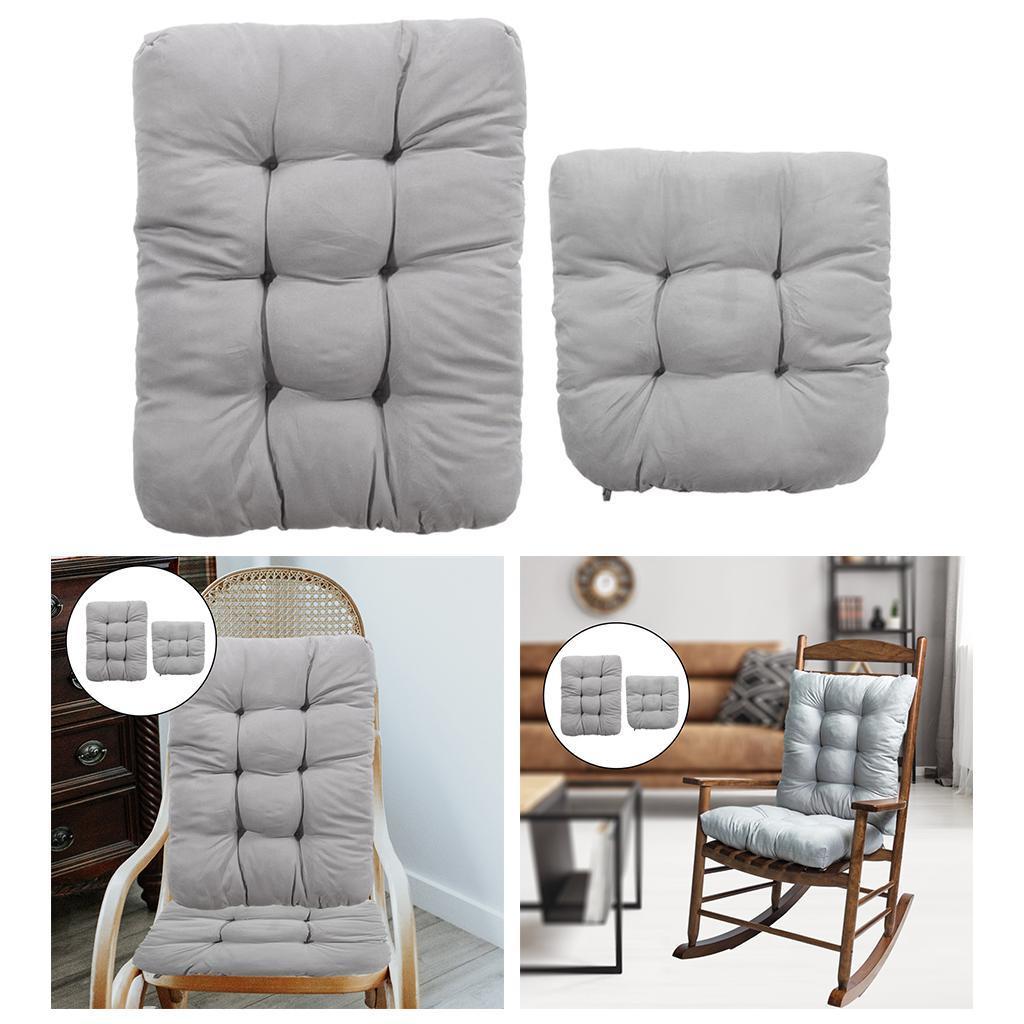miniature 33 - Ensemble de coussins de chaise berçante inclinable avec attaches Jardin