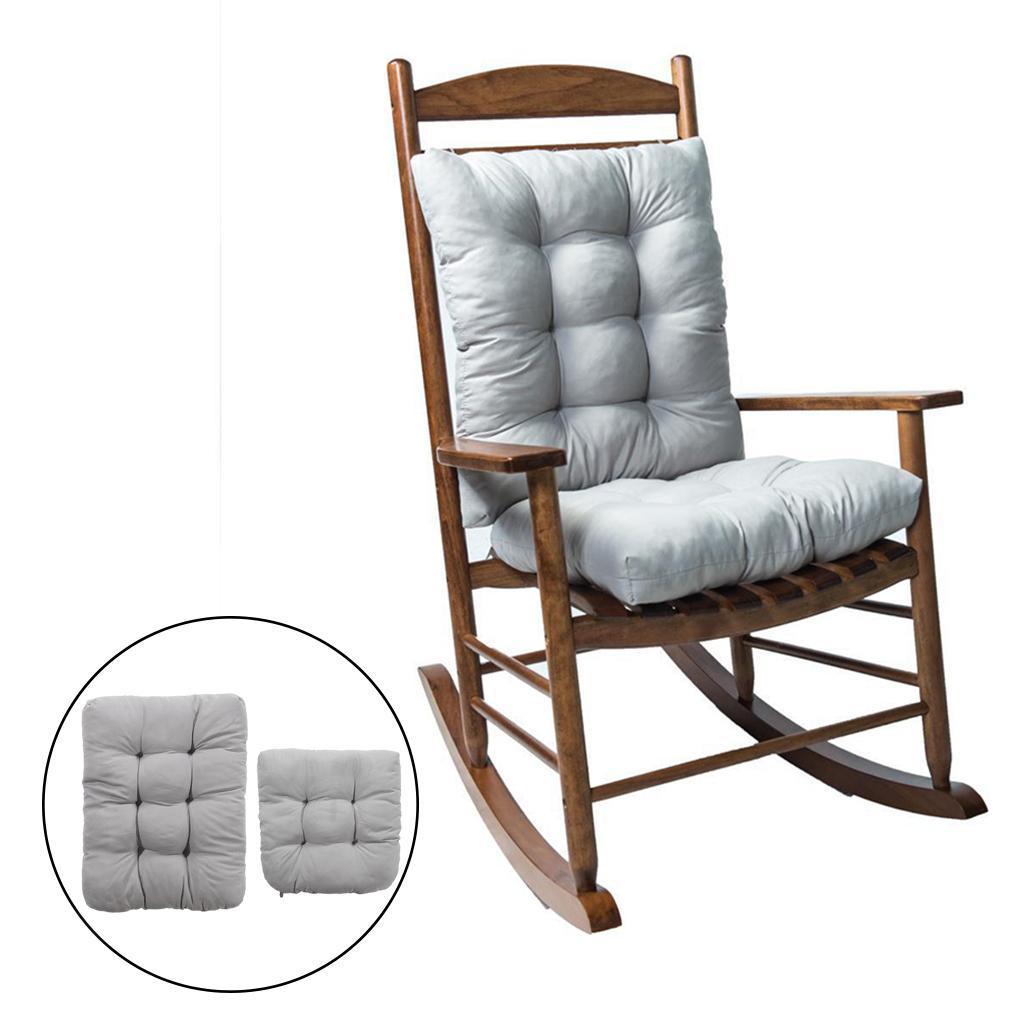 miniature 32 - Ensemble de coussins de chaise berçante inclinable avec attaches Jardin