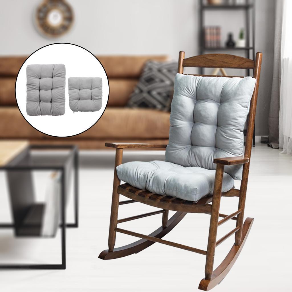 miniature 30 - Ensemble de coussins de chaise berçante inclinable avec attaches Jardin