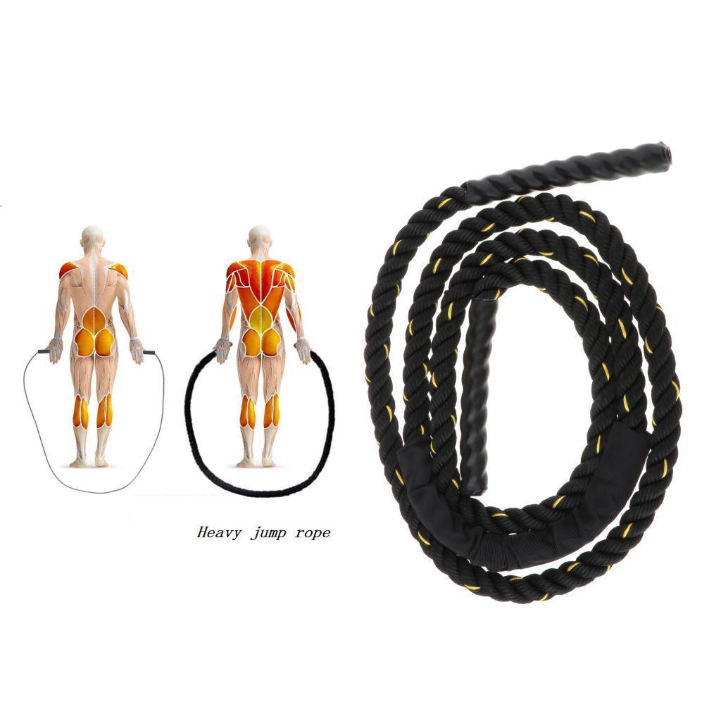 miniature 3 - Corde à sauter lourde corde à sauter cordes de combat d'entraînement pour