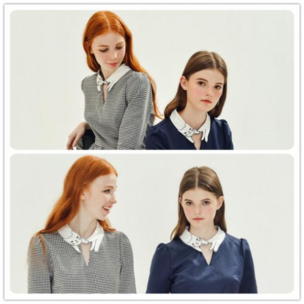Embroidered Detachable Dickey Collar, Blouse Sweater Half Shirt Fake Collars for