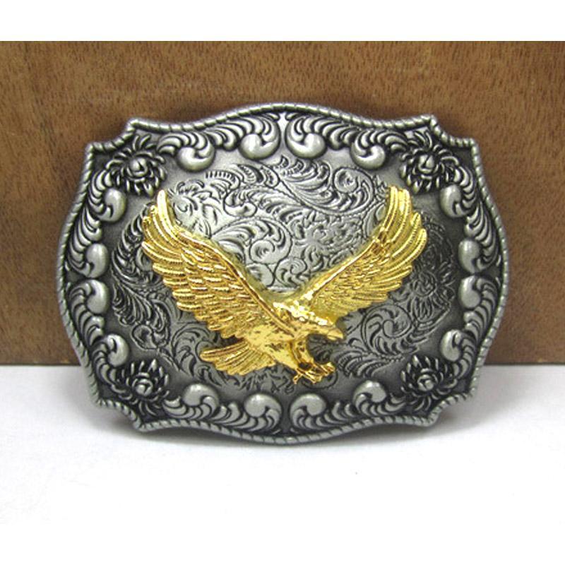 Vintage Böhmischem Stil Muster Western Cowboy Gürtelschnalle für Herren