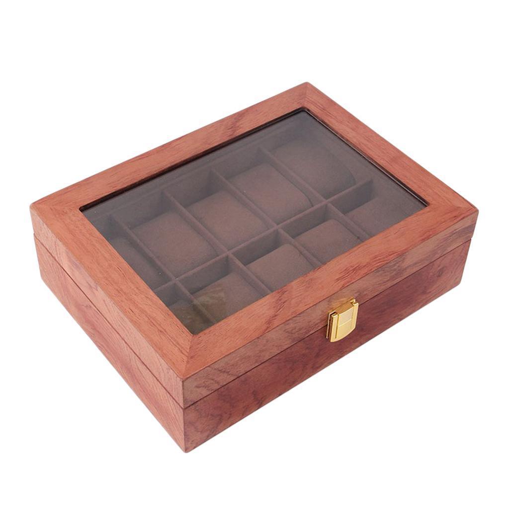 Men-039-s-Wrist-Watch-Box-Portable-Wooden-Display-Case-Jewelry-Storage-Holder thumbnail 9