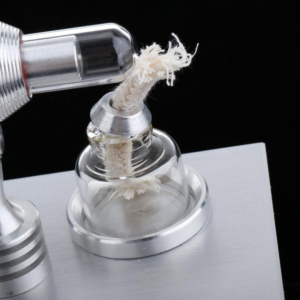 Mini-Stirling-Engine-Heat-Energy-Electric-Energy-Conversion-Lab-Supply miniature 9
