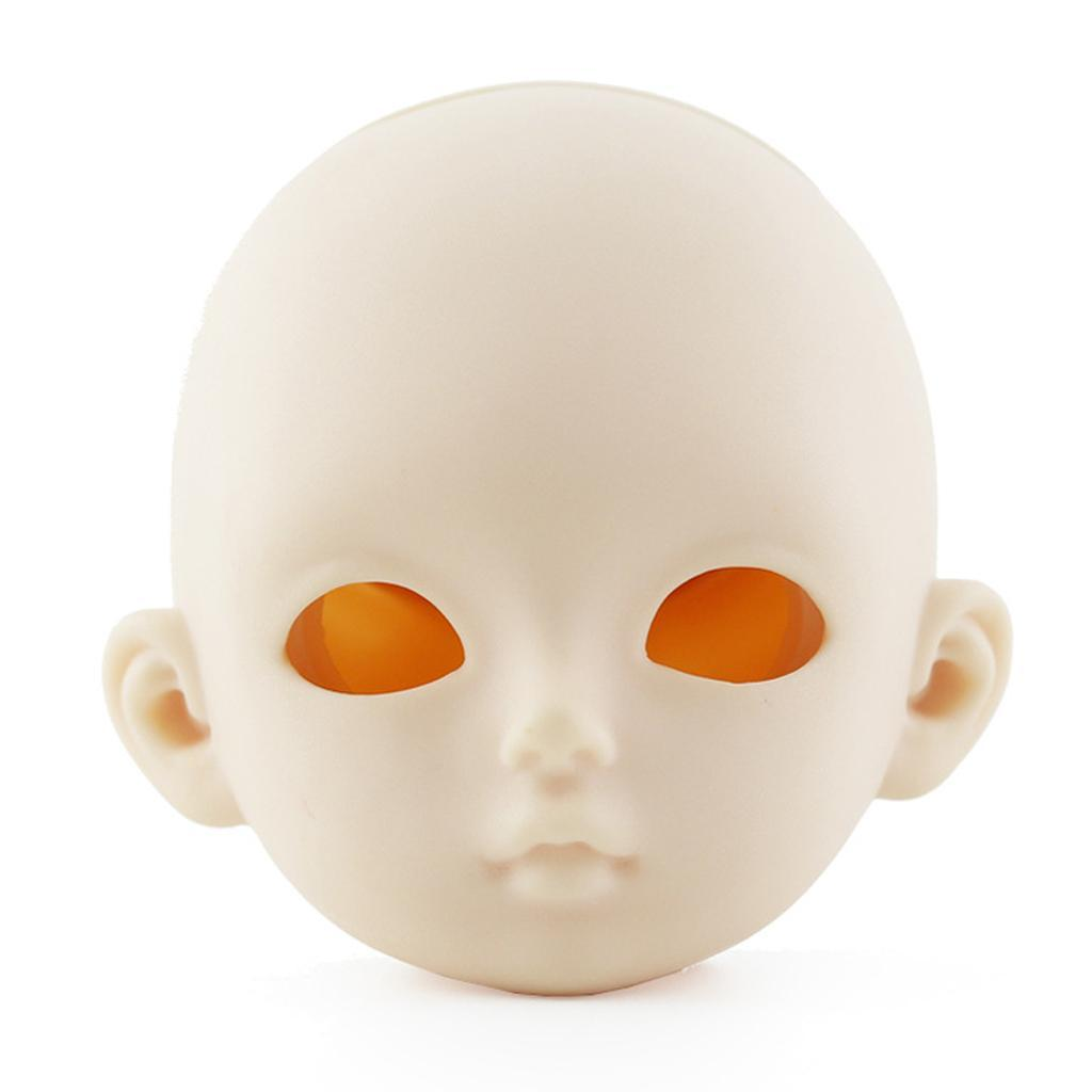Plastic Doll Head Faceplate Eyes Set for 1//3 BJD 60cm Doll Accessories