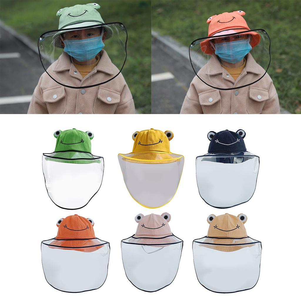 Baby-Transparent-Face-Shield-Anti-Spitting-Hat-Dust-Sun-Protective-Fishman-Caps thumbnail 3