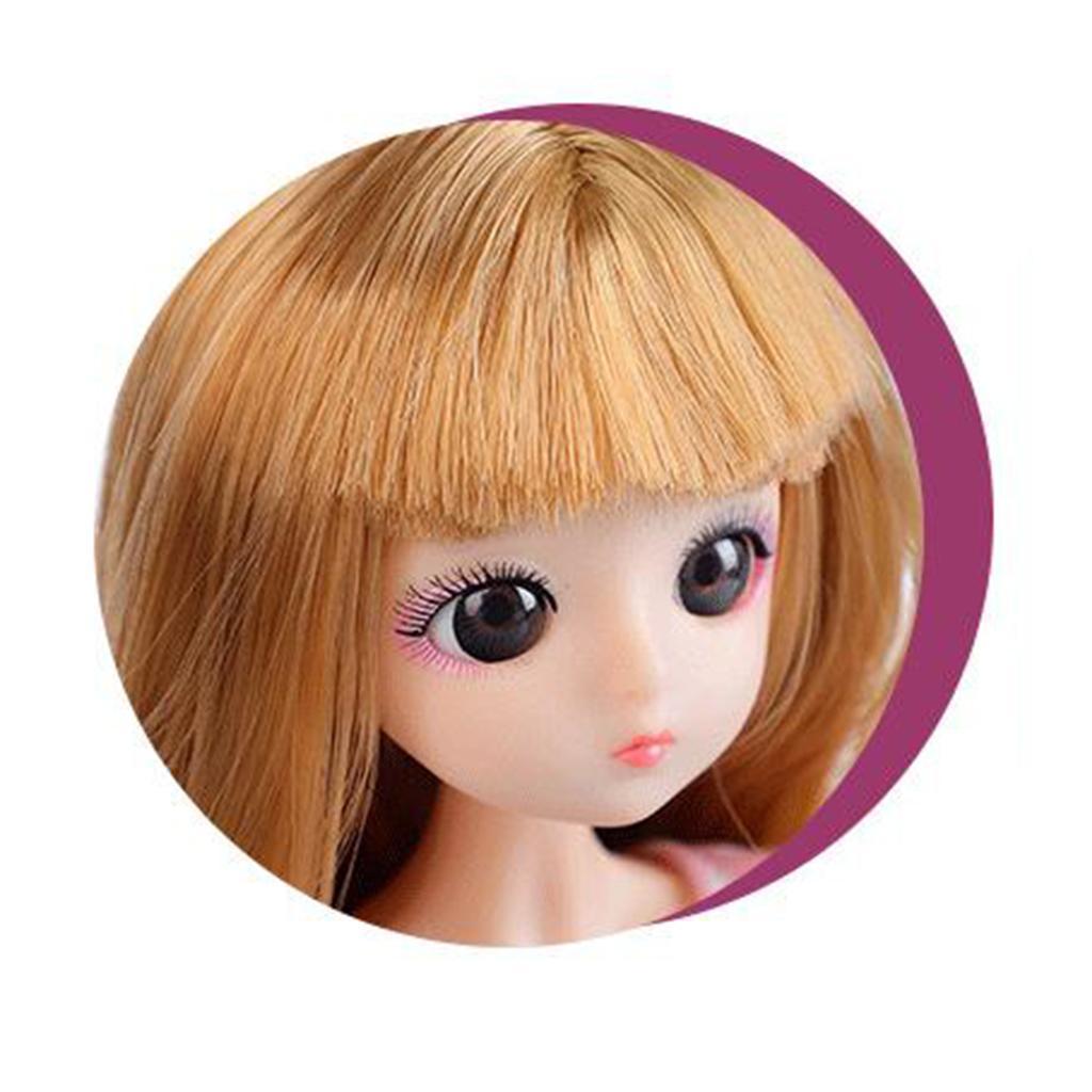 30cm-1-6-Scale-Flexible-BJD-26-Jointed-Girl-Doll-Nude-Body-w-Hair-DIY thumbnail 14