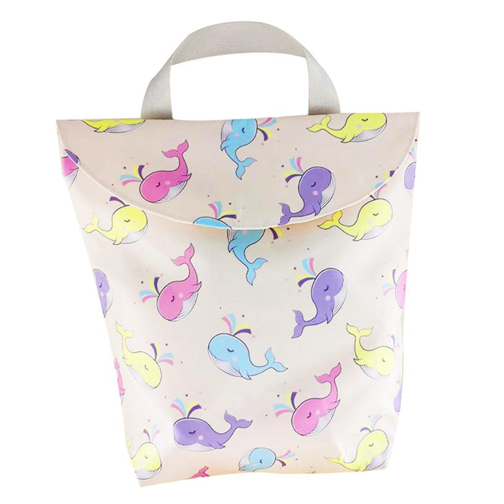 Baby-Diaper-Bag-Organizer-Fashion-Prints-Mummy-Storage-Bag-Outdoor-Reusable miniature 50