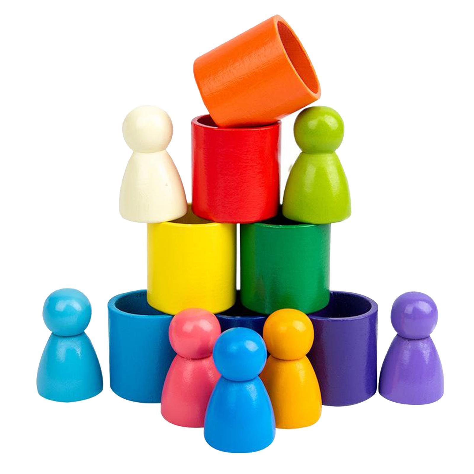 Blocchi-di-costruzione-giocattoli-per-bambini-in-legno-blocchi-di-nidificazione miniatura 9