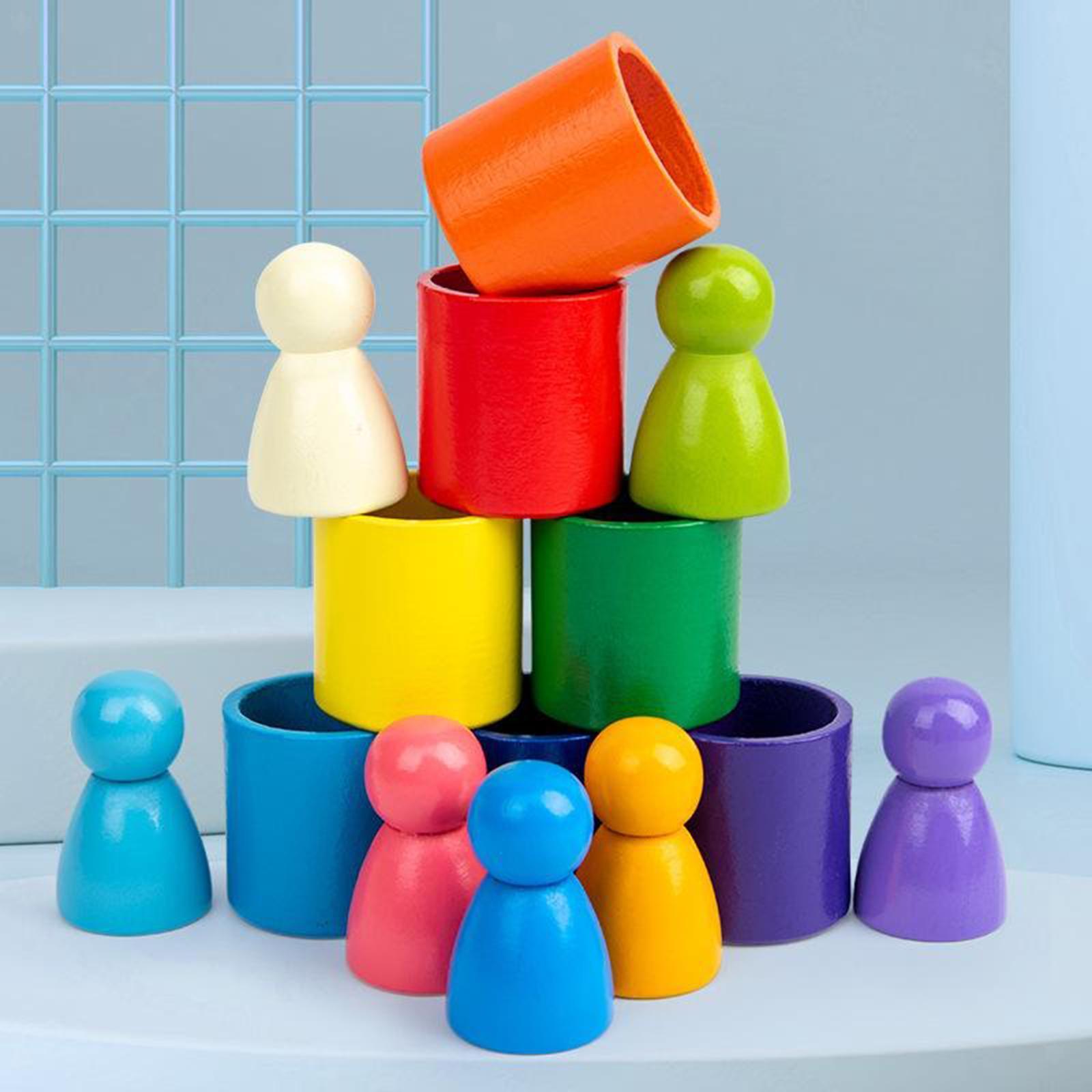 Blocchi-di-costruzione-giocattoli-per-bambini-in-legno-blocchi-di-nidificazione miniatura 10