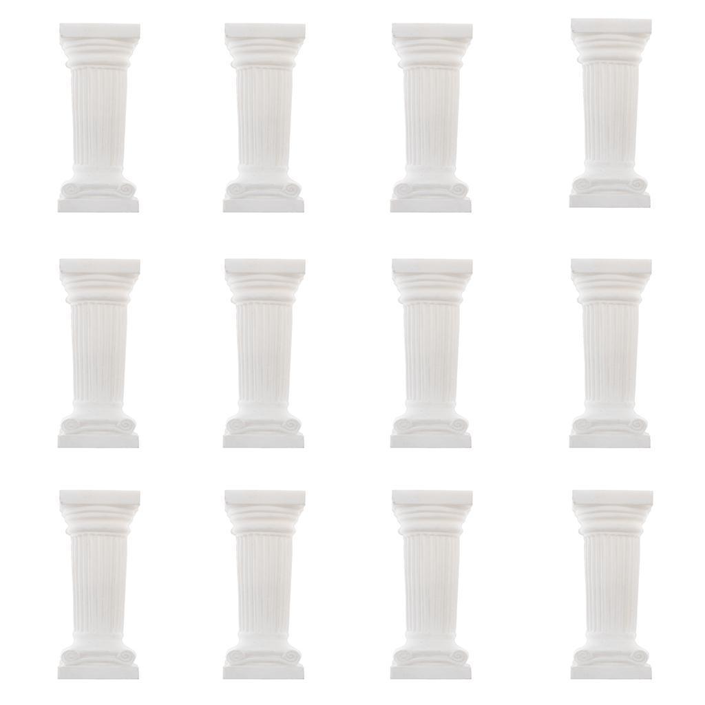 12x-Statue-De-Piedestal-En-Sculpture-Sur-Albatre-Colonne-De-Quatuor-D-039-epoque miniature 3