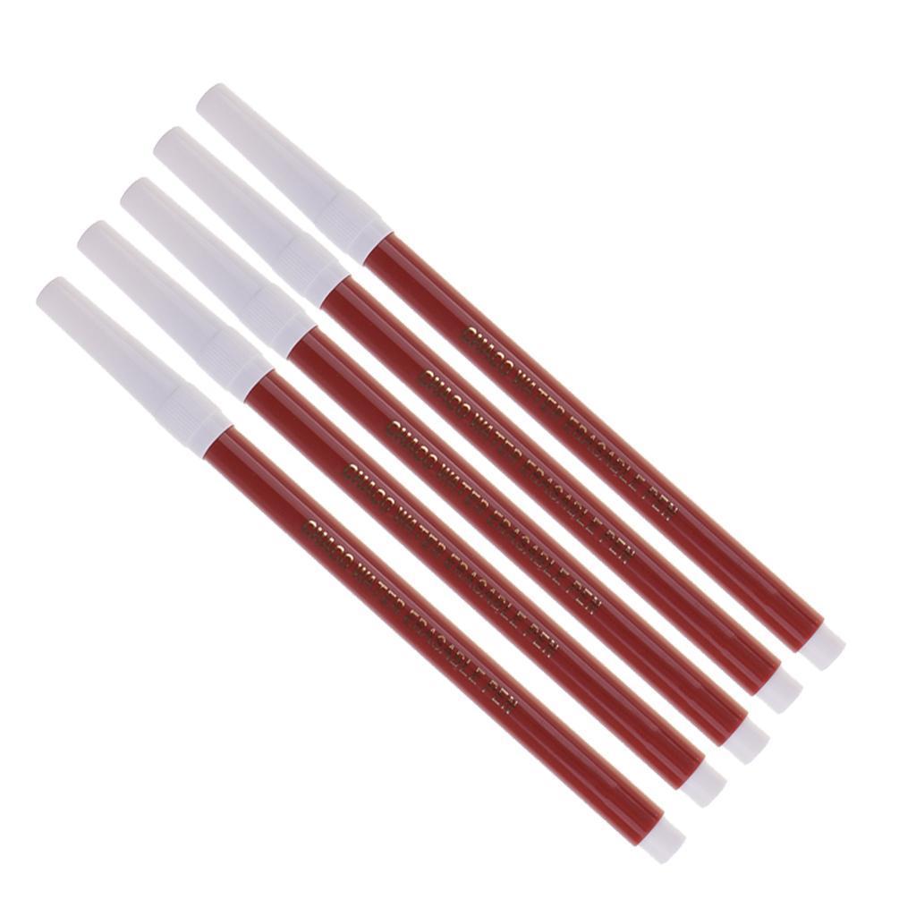 miniatura 7 - 5 Pezzi Marcatore Di Tessuto Verniciato Penna Solubile Erasable Acqua Pennarelli