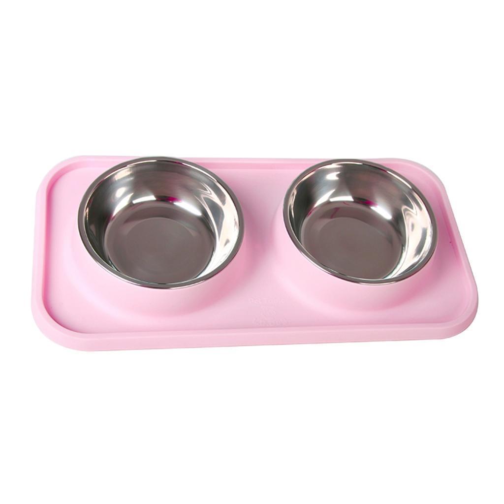 Ciotole-per-Gatti-Doppie-Ciotole-per-Cani-In-Acciaio-Inossidabile-da-Alta miniatura 6