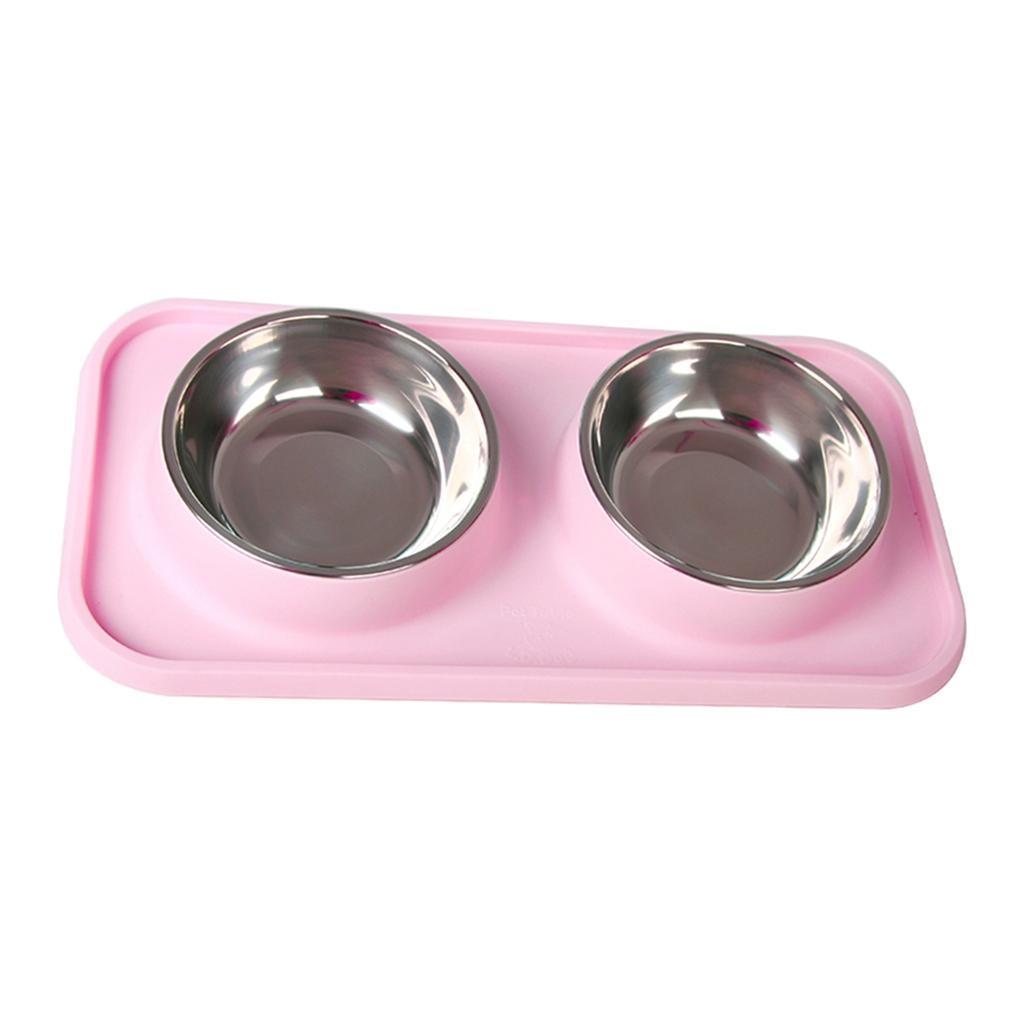 Ciotole-per-Gatti-Doppie-Ciotole-per-Cani-In-Acciaio-Inossidabile-da-Alta miniatura 5