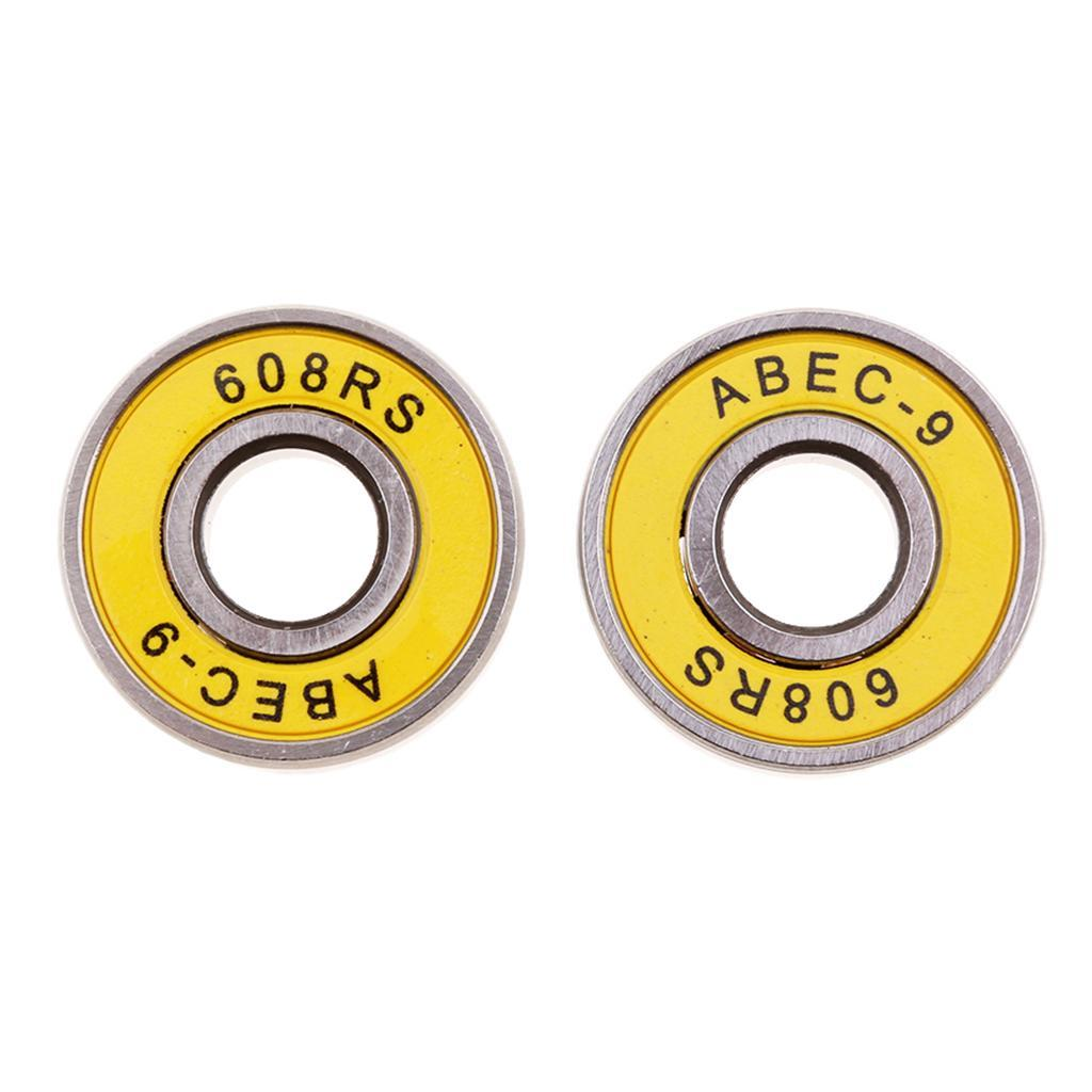 8 Pack ABEC 7// ABEC 9 Skateboard Longboard  Skate Roller  Hocker Wheel Stee Y8Q9