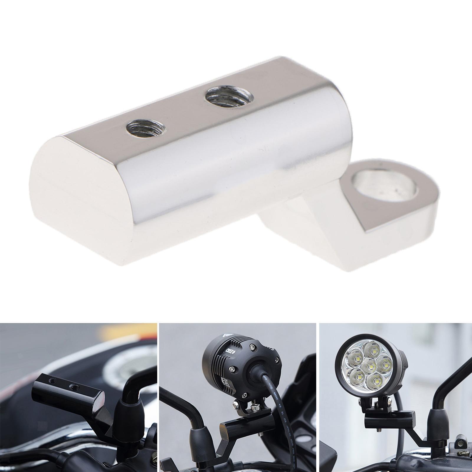 Universal Car Motorbike Rearview Mirror Voltmeter Portable Expansion Bracket