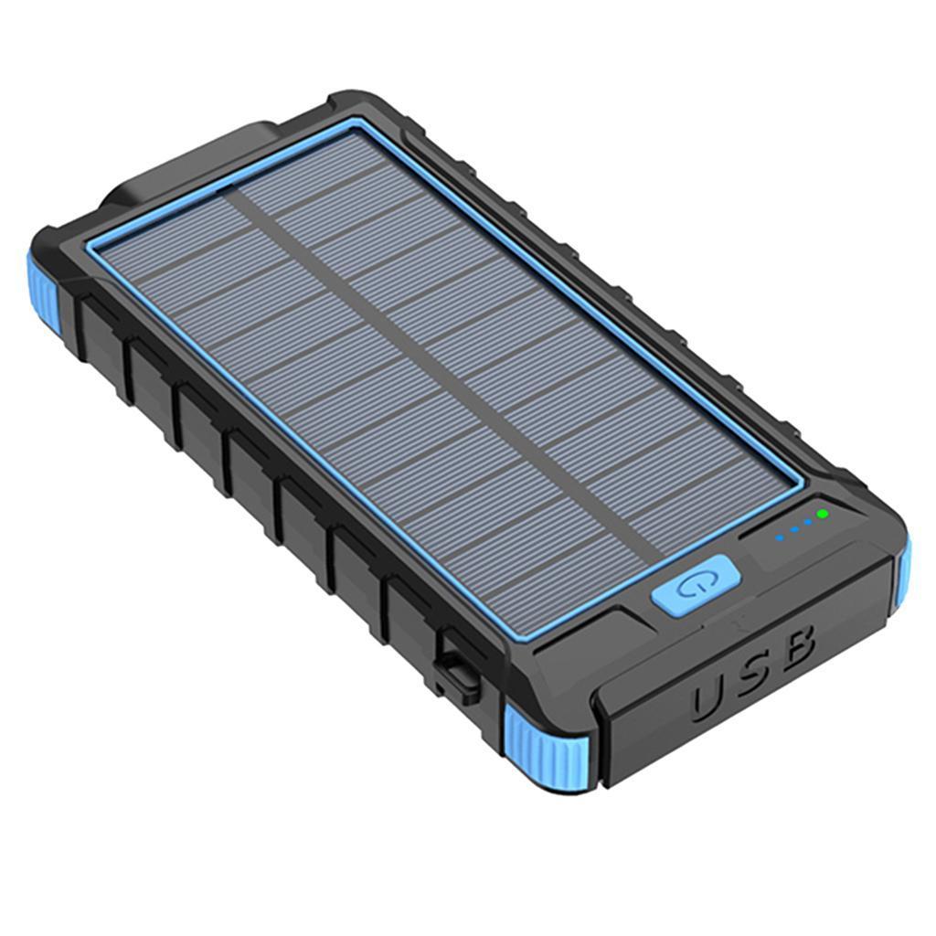 miniatura 4 - 10000mAh Solar Power Bank Cargador de batería de prueba de puerto USB 2