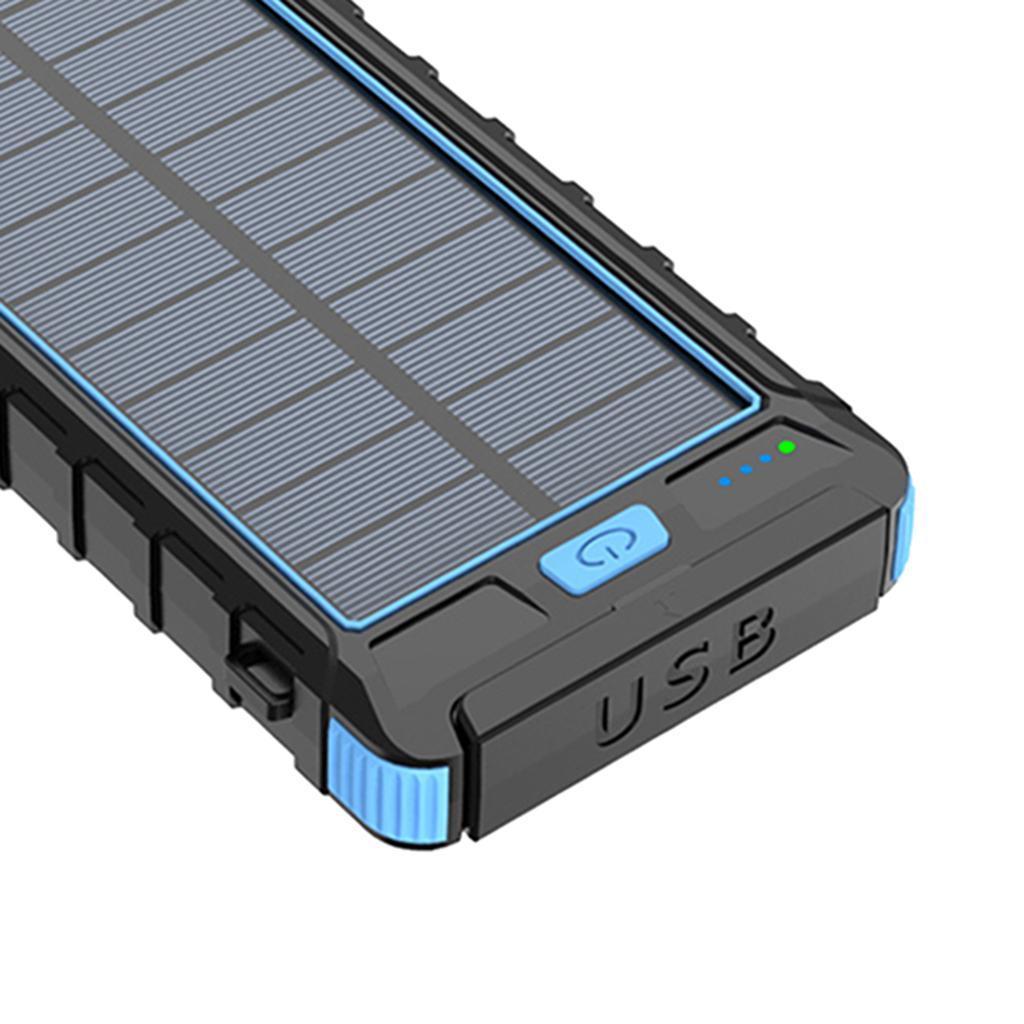 miniatura 3 - 10000mAh Solar Power Bank Cargador de batería de prueba de puerto USB 2
