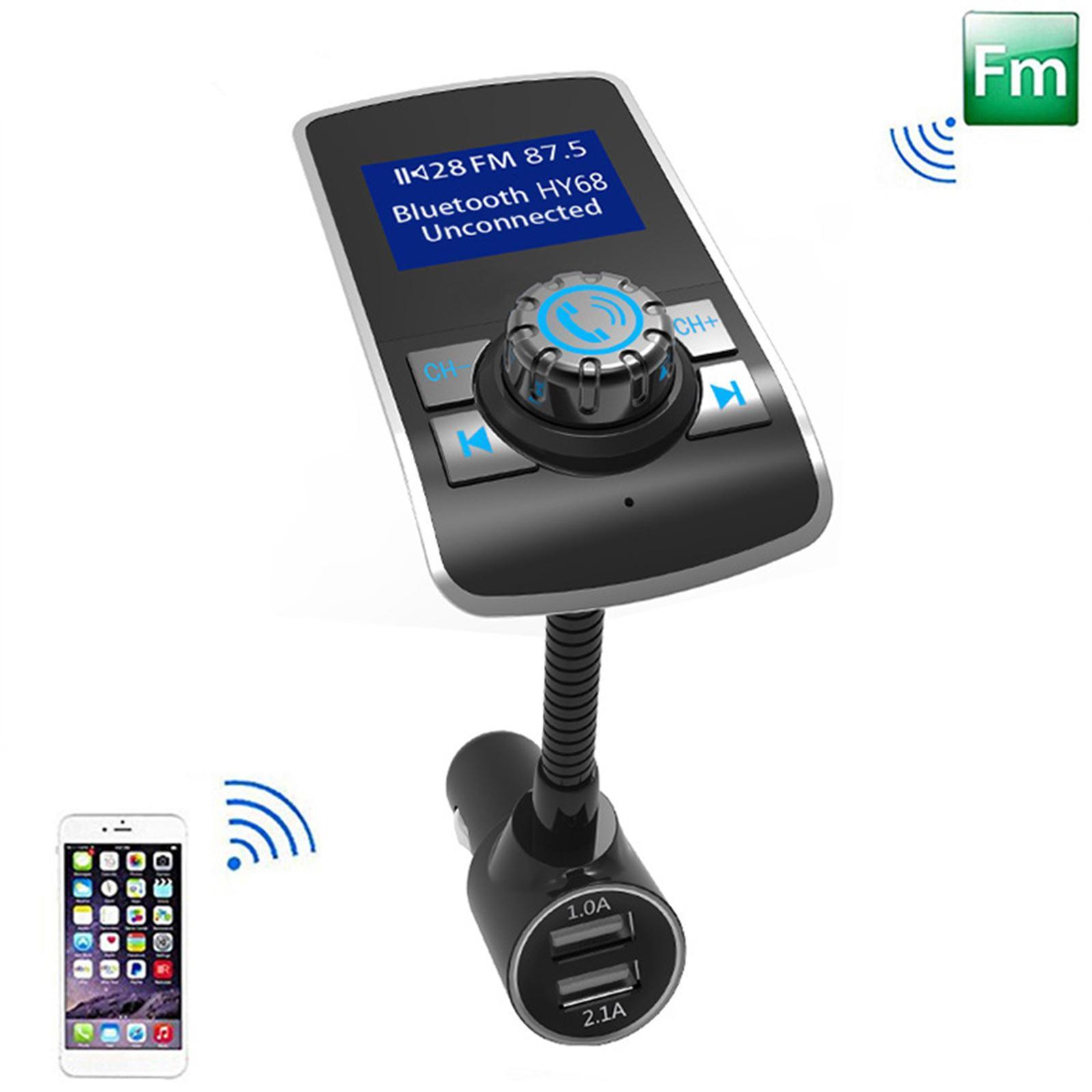 Indexbild 6 - Bluetooth V4.2 LCD FM Transmitter Auto MP3 Player 2 Port USB Lade AUX Port