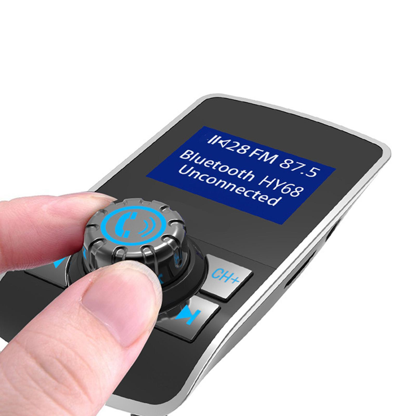 Indexbild 10 - Bluetooth V4.2 LCD FM Transmitter Auto MP3 Player 2 Port USB Lade AUX Port