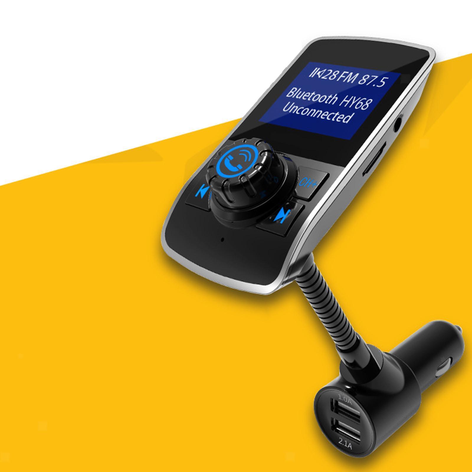Indexbild 3 - LCD Auto FM Transmitter Radio Auto MP3 Player 2 Port USB Ladegerät mit Mikrofon