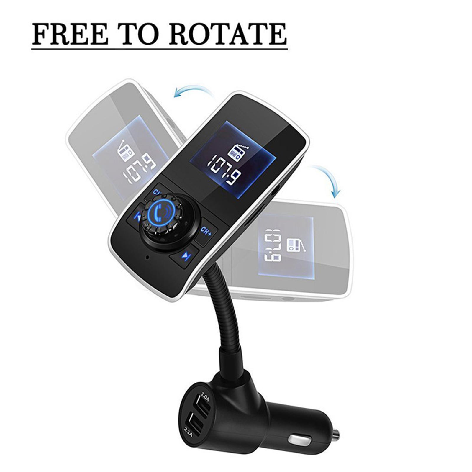 Indexbild 3 - Bluetooth V4.2 LCD FM Transmitter Auto MP3 Player 2 Port USB Lade AUX Port