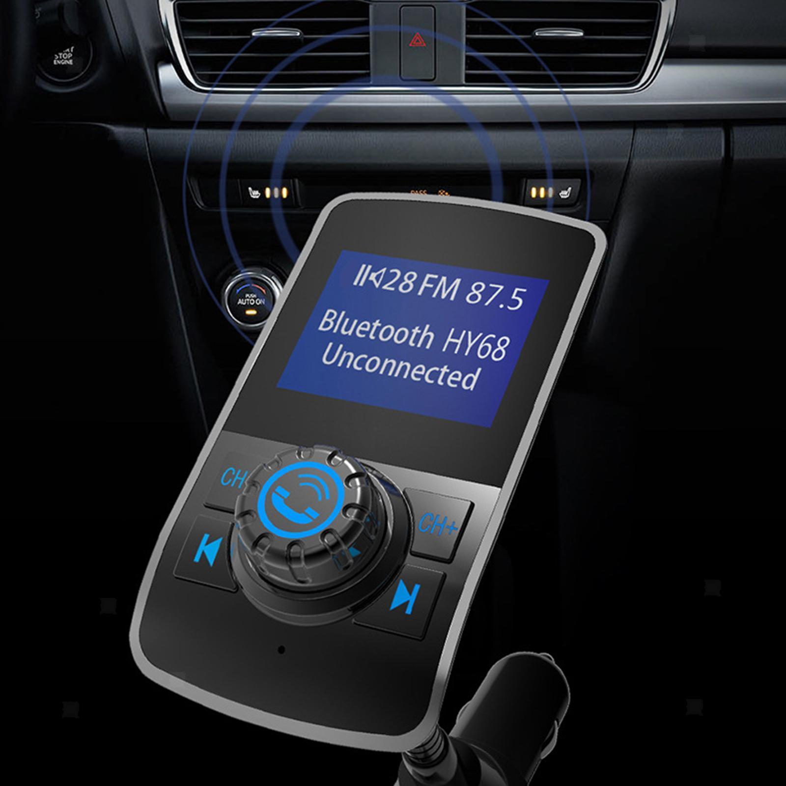 Indexbild 12 - Bluetooth V4.2 LCD FM Transmitter Auto MP3 Player 2 Port USB Lade AUX Port
