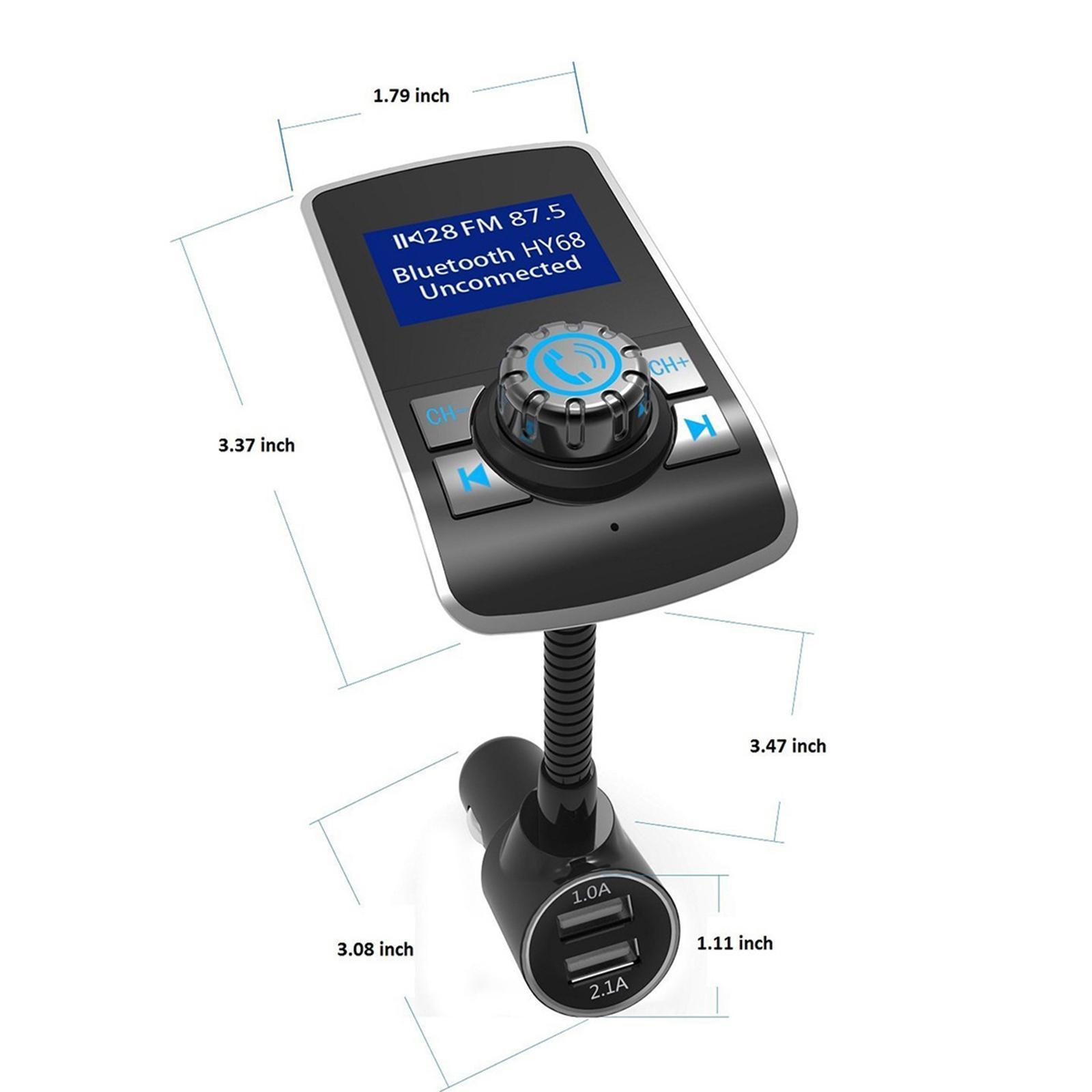 Indexbild 7 - LCD Auto FM Transmitter Radio Auto MP3 Player 2 Port USB Ladegerät mit Mikrofon