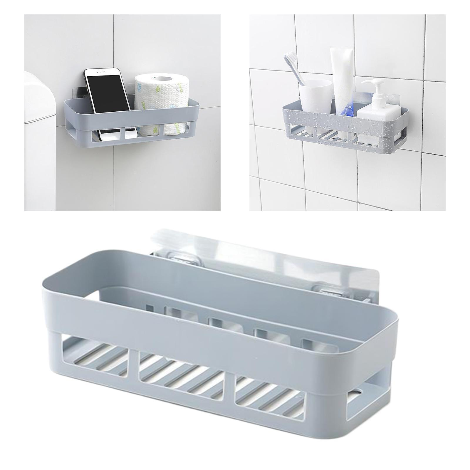 thumbnail 30 - Wall-Suction-Bathroom-Shelf-Shower-Caddy-Wall-Mount-Storage-Rack-Organizer