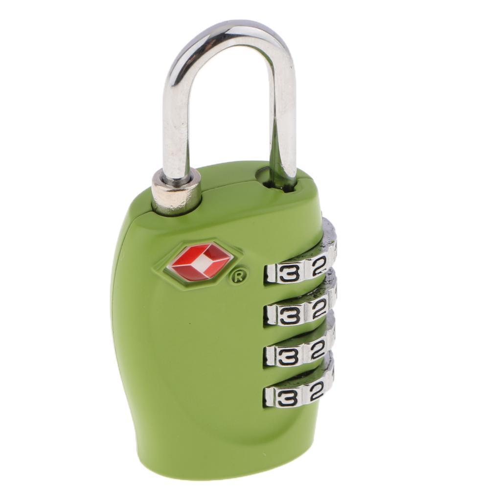 miniatura 3 - Lucchetto per valigia da viaggio con lucchetto a combinazione di sicurezza a 4