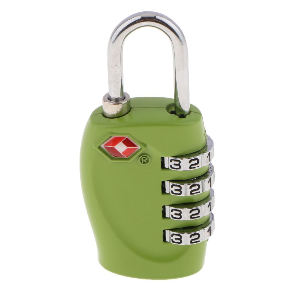 miniatura 4 - Lucchetto per valigia da viaggio con lucchetto a combinazione di sicurezza a 4