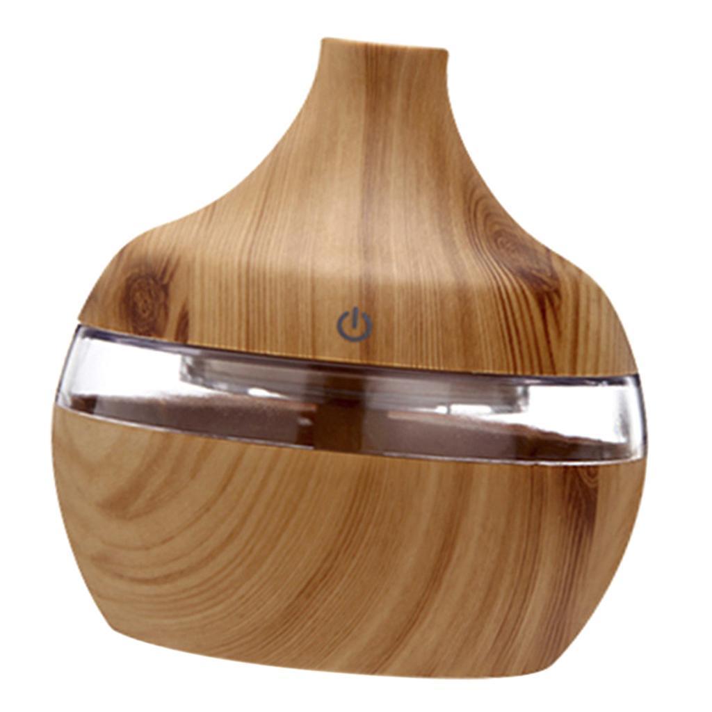 300ml-Holzmaserung-Ultraschall-Aromaoel-Essential-Diffuser-Home Indexbild 6