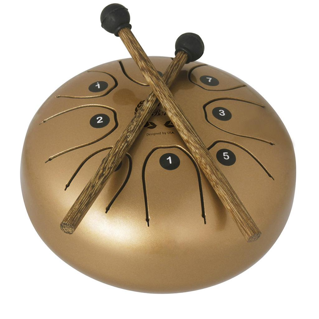 5-5-inch-Steel-Tongue-Drum-Handpan-C-Tune-8-Notes-Hand-Tankdrum-w-Bag-Mallets thumbnail 12