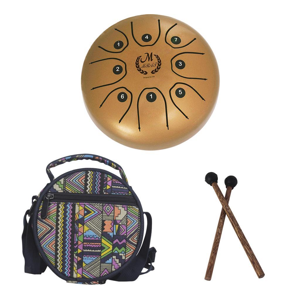 5-5-inch-Steel-Tongue-Drum-Handpan-C-Tune-8-Notes-Hand-Tankdrum-w-Bag-Mallets thumbnail 13