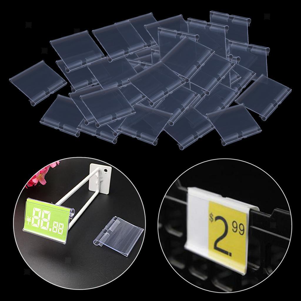 Porte-etiquette-En-Plastique-Transparent-Porte-etiquette-De-Prix-De-Detail miniature 19