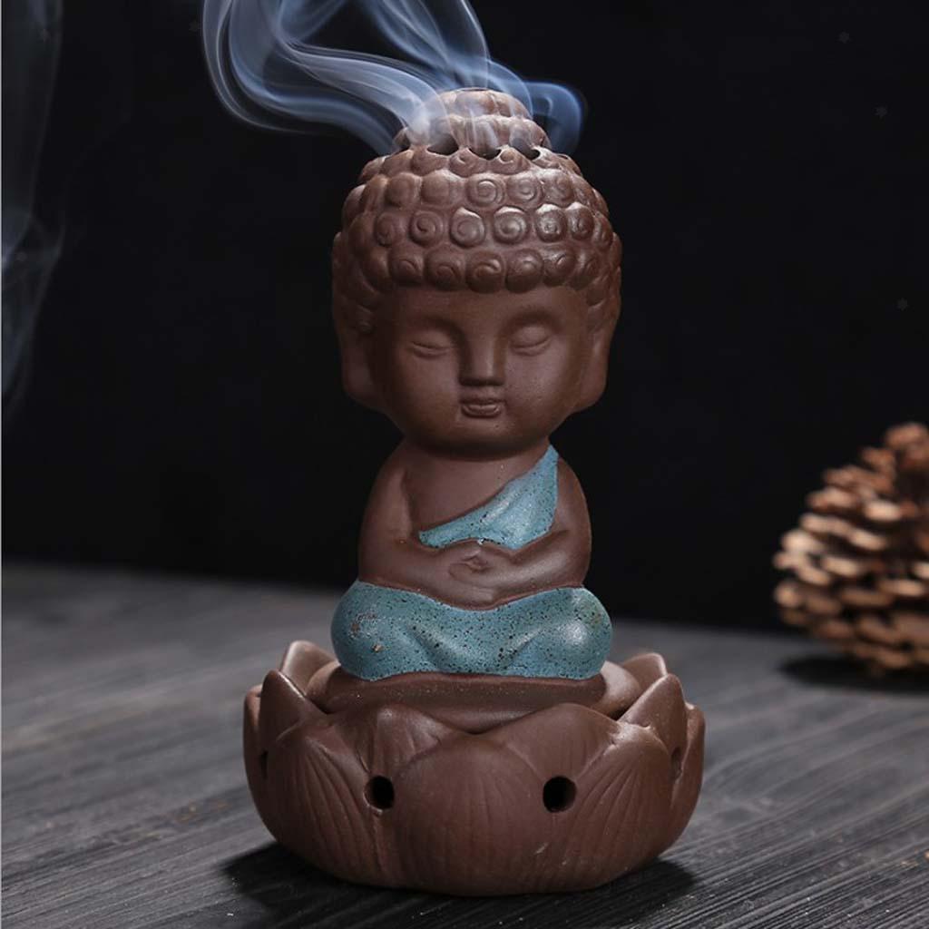 Buddhismus-Moenche-Raeuchergefaess-Keramik-Stick-Kegel-Halter-Rueckfluss Indexbild 6