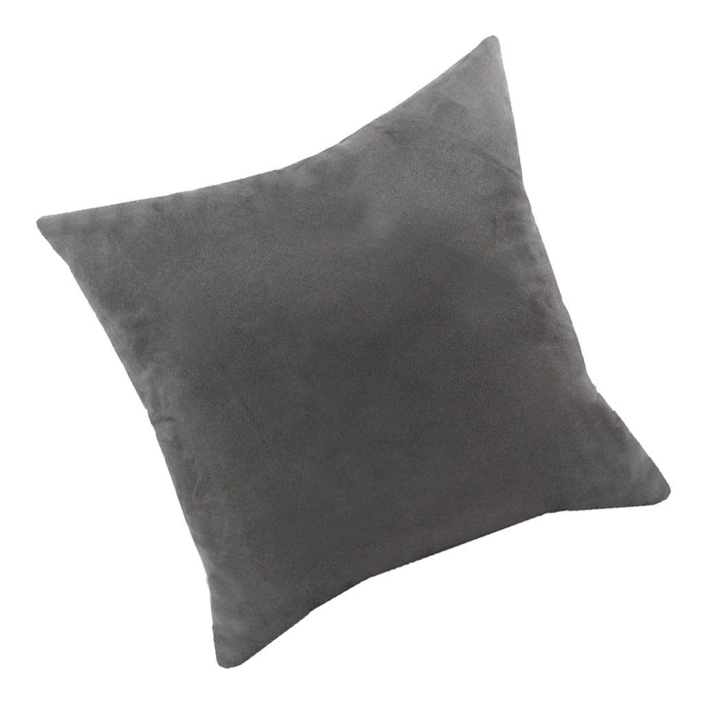 Bright Color Pillow Case Velvet Decorative Square Throw Pillow Covers