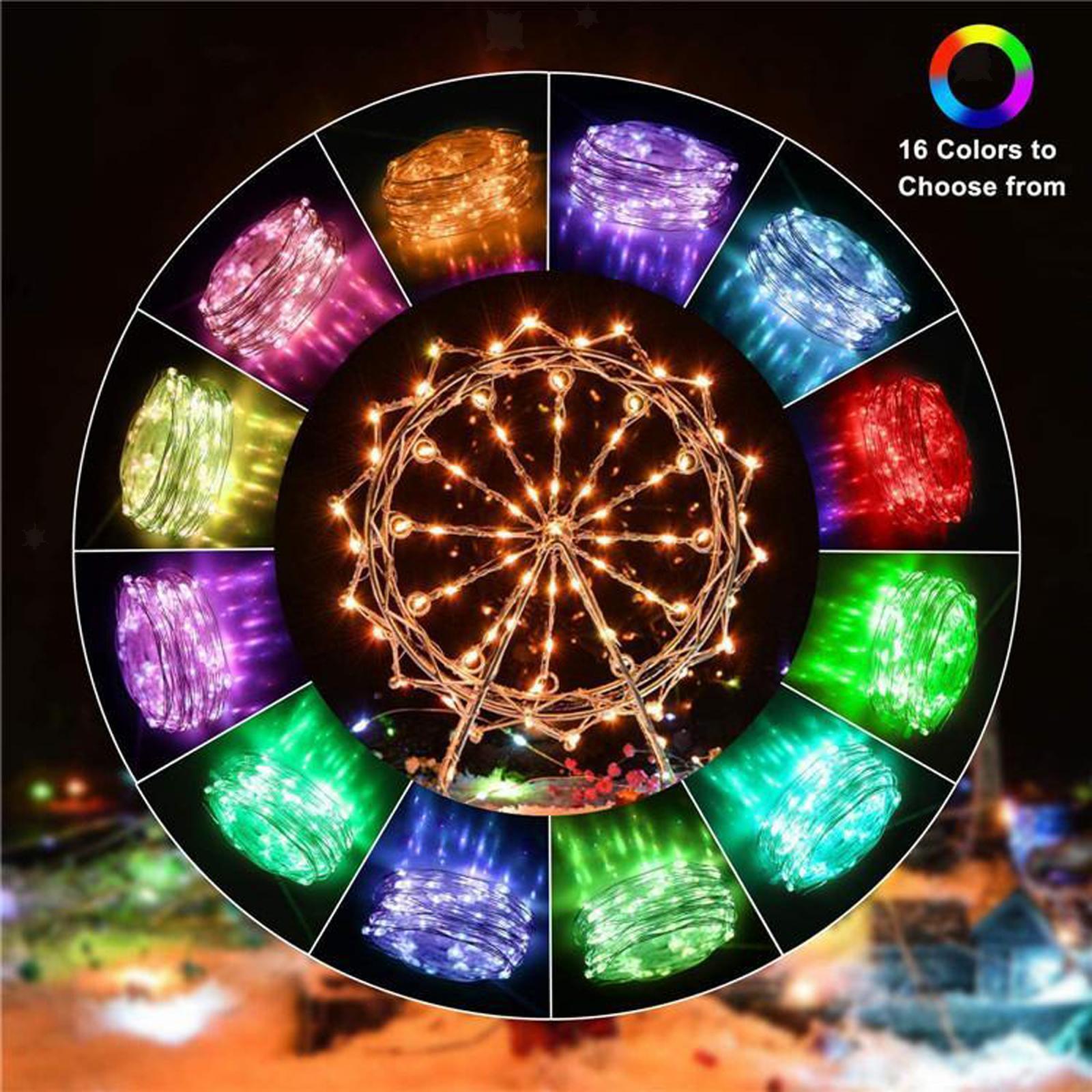 miniature 30 - LED Fée Guirlande Lumineuse Rideau Fenêtre De Mariage Party Decor App Contrôl