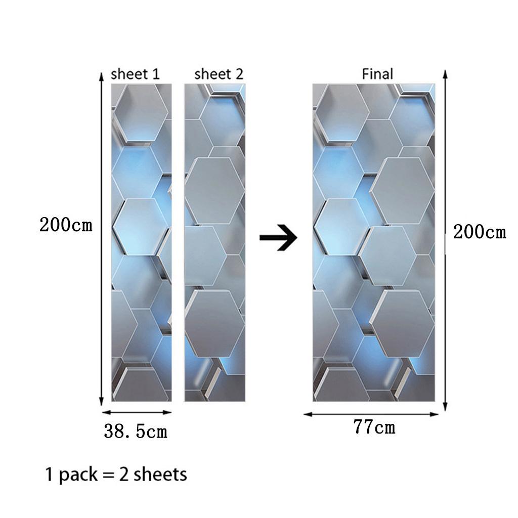 miniatura 5 - 3D Porta Adesivi Murali Decalcomanie Autoadesivo Adesivo Murale Carta Da