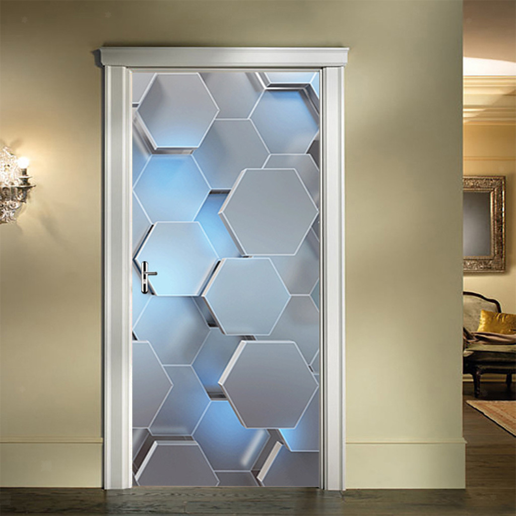 Indexbild 3 - PVC 3D Türaufkleber DIY Selbstklebende Wandbilder Abziehbilder Wrap Home Decor